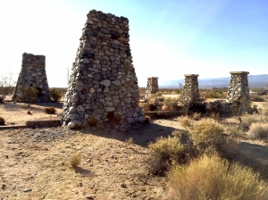 The ruins of Llano del Rio, with chimneys 12 feet high, are sometimes called the Socialist Stonehenge.