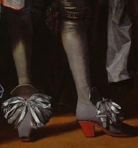 Closeup of Charles II's shoes