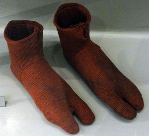 World's oldest socks, at the Victoria and Albert Museum, London. Photo: Fæ via Wikinedia