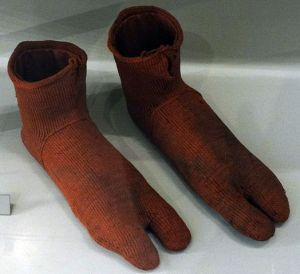 World's oldest socks, at the Victoria and Albert Museum, London. Photo: Fæ via Wikinedia