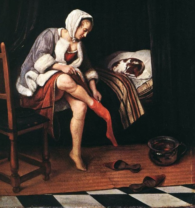 The Morning Toilet by Jan Steen. Image: Adapted from Wikimedia
