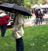 Headless man at the Los Angeles Times Book Fair at USC, March 2016.